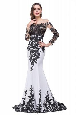 Gorgeous Long Sleeve Mermaid Evening Dress UK Black Appliques Mother Dress UK_4