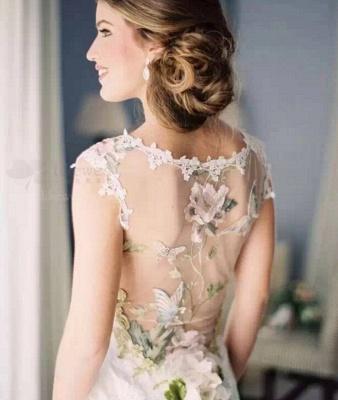 Newest Bodycon Cap Sleeve Wedding Dress V-neck Lace_2