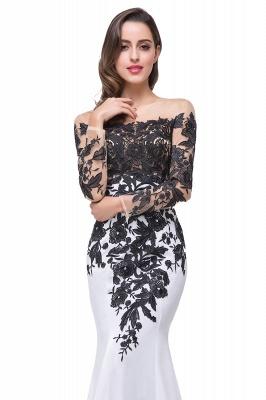 Gorgeous Long Sleeve Mermaid Evening Dress UK Black Appliques Mother Dress UK_5