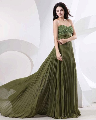 Sweetheart Ruffles Green Evening Dress UKes UK BabyonlineDress UK Beading Sheath Dark Gowns_5
