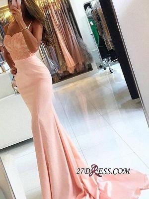 Mermaid Lace-Appliques Newest Sleeveless Spaghetti-Strap Prom Dress UK SP0288_3