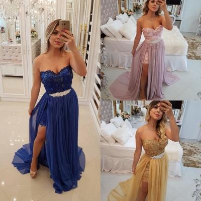 Stunning Sweetheart 2019 Evening Dress UK | Long Prom Party Dress UK With Skirt_5