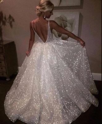 Sparkly Sequins Prom Dress UK | A-Line Evening Gowns On Sale_1