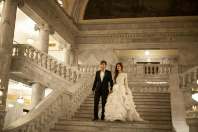 Elegant Beadss Lace Appliques Wedding Dress Ruffles Court Train_7