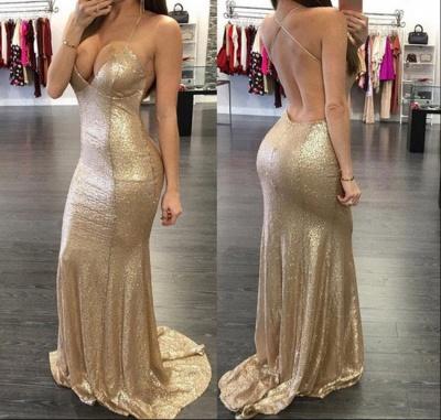 Elegant Sleeveless Mermaid Sequins Prom Dress UKes UK Floor Length_2