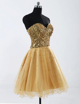 Gorgeous Sweetheart Sleeveless Short Homecoming Dress UK With Sequins LF17155_3