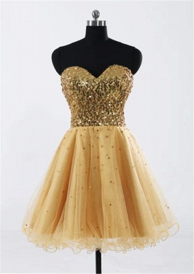 Gorgeous Sweetheart Sleeveless Short Homecoming Dress UK With Sequins LF17155_4