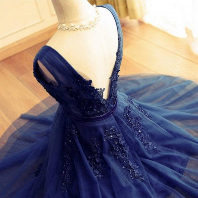 Delicate Lace Straps Sleeveless Beads A-line Short Homecoming Dress UK_4