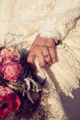 Newest Long Sleeve Lace Wedding Dress Court Train_2
