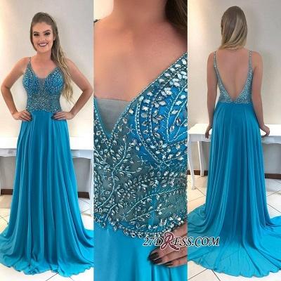 Chiffon prom Dress UK, evening Dress UKes UK with crystal_1