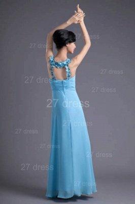 Sexy Chiffon A-line Appliques Evening Dress UK Floor-length Zipper_5