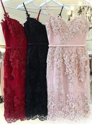 Sexy Pink Sheath Short Homecoming Dress UKes UK | Spaghetti-Strap Sleeveless Cocktail Dress UKes UK_4