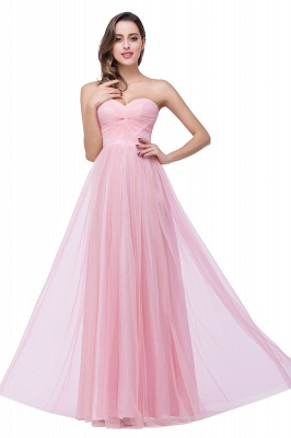 Sexy Sweetheart Pink Bridesmaid Dress UK Ruched Long Prom Gown_1