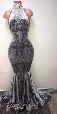 Silver-grey prom Dress UK, lace mermaid formal Dress UK BA8233_2