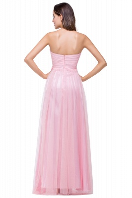 Sexy Sweetheart Pink Bridesmaid Dress UK Ruched Long Prom Gown_4