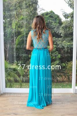 Womens Long Evening Prom Dress UKes UK Hot Sale Lindo Vestidos De Fiesta Party Gowns Blue Scoop Pearls Chiffon Lace_6