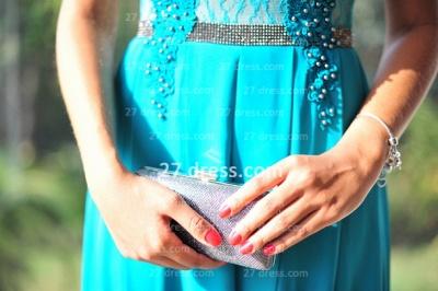 Womens Long Evening Prom Dress UKes UK Hot Sale Lindo Vestidos De Fiesta Party Gowns Blue Scoop Pearls Chiffon Lace_2