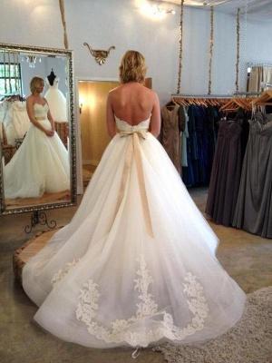 Gorgeous Sweetheart Princess Wedding Dresses UK Lace Appliques Tulle_4