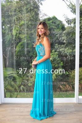 Womens Long Evening Prom Dress UKes UK Hot Sale Lindo Vestidos De Fiesta Party Gowns Blue Scoop Pearls Chiffon Lace_4
