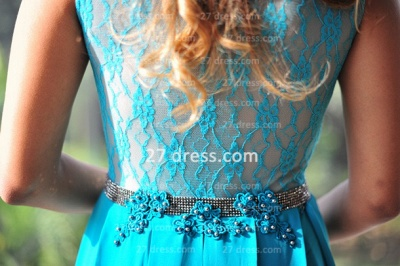 Womens Long Evening Prom Dress UKes UK Hot Sale Lindo Vestidos De Fiesta Party Gowns Blue Scoop Pearls Chiffon Lace_3