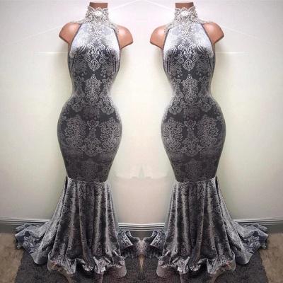 Silver-grey prom Dress UK, lace mermaid formal Dress UK BA8233_3