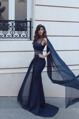 Sexy Sleeveless Mermaid Evening Dress UK Ruffles Designer Prom Gowns With Beadings_3