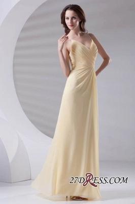 Spaghetti-Straps Chiffon A-Line Sexy Bridesmaid Dress UKes UK_4
