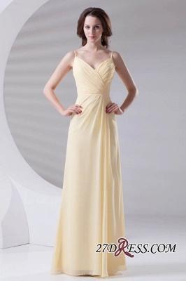 Spaghetti-Straps Chiffon A-Line Sexy Bridesmaid Dress UKes UK_7