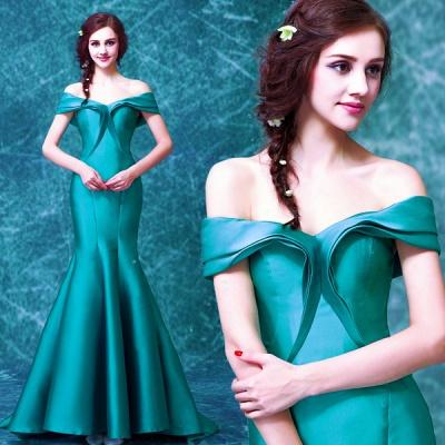 Newest Off-the-shoulder Mermaid Prom Dress UK Sweep Train Zipper_3
