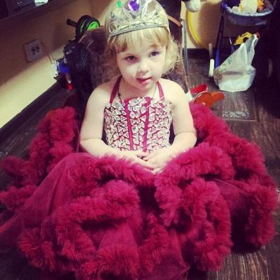 Newest Halter Ruffles Crystals Flower Girl Dress Sleeveless_3