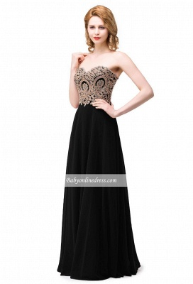 Appliques Chiffon Long Burgundy Sexy Sweetheart-Neck Prom Dress UKes UK_7