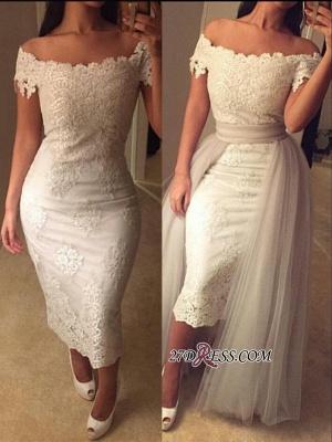 Modest Detachable-Train Lace Off-the-shoulder Tea-length Prom Dress UK BA6894_2
