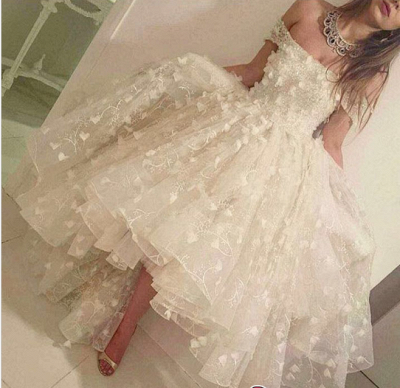 Off-the-shoulder Hi-Lo 3D-Floral-Appliques Romantic Prom Dress UKes UK LY135_1