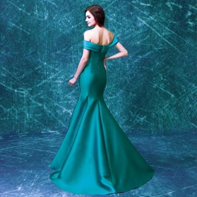 Newest Off-the-shoulder Mermaid Prom Dress UK Sweep Train Zipper_5