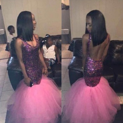 Sequins Mermaid Prom Dress UK | Tulle Party Gowns On Sale_3
