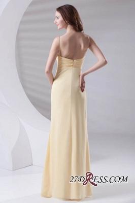 Spaghetti-Straps Chiffon A-Line Sexy Bridesmaid Dress UKes UK_2