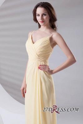 Spaghetti-Straps Chiffon A-Line Sexy Bridesmaid Dress UKes UK_6