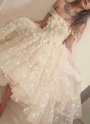 Off-the-shoulder Hi-Lo 3D-Floral-Appliques Romantic Prom Dress UKes UK LY135_3
