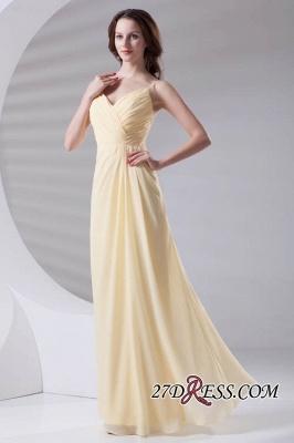 Spaghetti-Straps Chiffon A-Line Sexy Bridesmaid Dress UKes UK_5