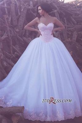 Appliques Ball Tulle Sweetheart Elegant Wedding Dresses UK BA3789_2