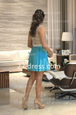Pearl Short Lace Prom Dress UKes UK New Arrival Lindo Vestido Party Gowns See Through Sleeveless Green_4