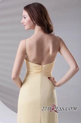 Spaghetti-Straps Chiffon A-Line Sexy Bridesmaid Dress UKes UK_3