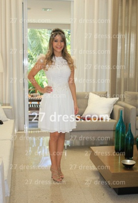 Prom De Short White Lace Cocktail Dress UK with New Arrival Sexy Gowns Vestidos Fiesta Sleeves_1