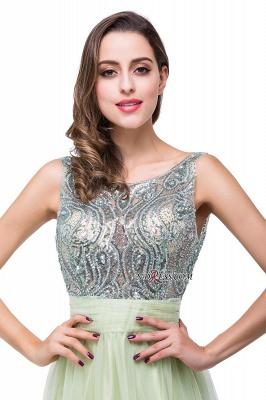 Scoop-Neckline A-line Sleevless Charming Long Crystal Chiffon Prom-Dress UK_2