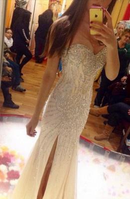Gorgeous Sweetheart Beadings Prom Dress UKes UK Front Split Floor Length_1