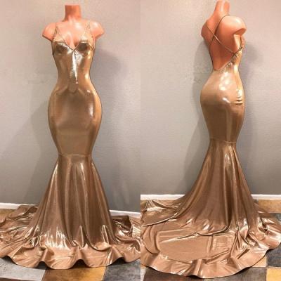 Elegant Spaghetti Strap Gold Prom Dress UK, Sleeveless Prom Dress UK BA8432_3