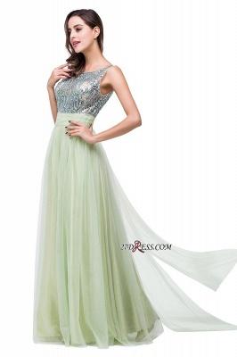 Scoop-Neckline A-line Sleevless Charming Long Crystal Chiffon Prom-Dress UK_4