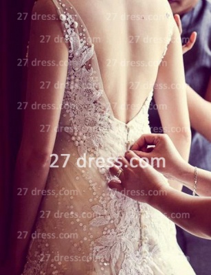 Beads Bridal High Neck Lace Wedding Dresses UK Sheer Cheap Backless Sleeveless Court Train Gowns_3