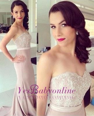 Sweetheart Mermaid Sexy Lace Beads Prom Dress UK_2