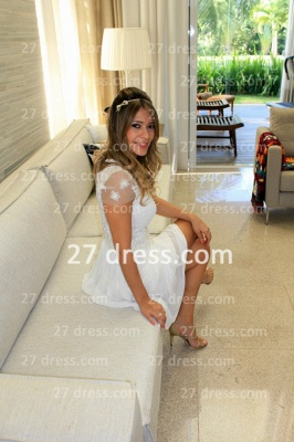 Prom De Short White Lace Cocktail Dress UK with New Arrival Sexy Gowns Vestidos Fiesta Sleeves_5